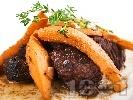 Снимка на рецепта Варено телешко с дюли (Moschari me Kydonia)